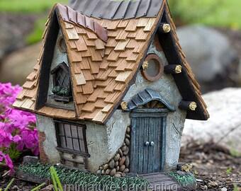 Crooked Creations Solar Home for Miniature Garden, Fairy Garden