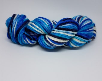 Hand-dyed Superwash Merino Bulky-Sea of Blue