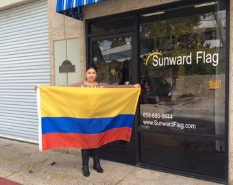 3' x 5' Colombia National Flag, Custom Sizes Available