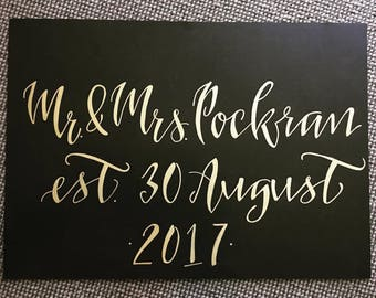 Wedding or event custom welcome sign * made to order, hand calligraphy, poster