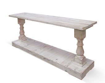 Console Table, Table, Reclaimed Wood, Sofa Table, Entertainment Console, Rustic, Handmade