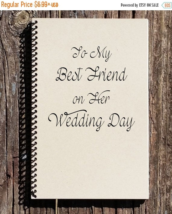 Wedding Gift Sale: SALE: To My Best Friend On Her Wedding Day By CulturalBindings