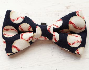 Baseball Dog Bowties - Dog Bow Tie - Dog Bows - Dog Bowtie - Cat Bowtie - Pet Bow Tie - Pet Bows - Gifts for Dogs - Gifts for Dog Lovers