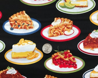 "PIE Fabric, ""Kiss the Cook"" By Robert Kaufman ~ 100% Cotton Fat Quarter/ FQ, Fat Quarter for Quilting & Crafts"