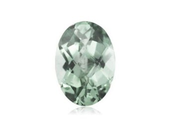 Natural Green Amethyst Prasiolite Oval Checkerboard Loose Stones(10x8 -18x13mm)