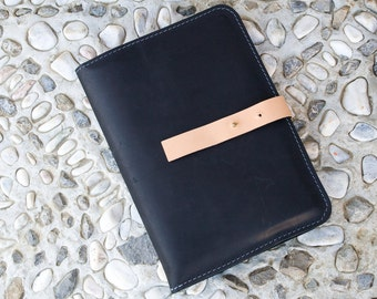 Leather Portfolio, Leather organizer, Etui, Case for Tablet, Unusual, Unique, Navaho