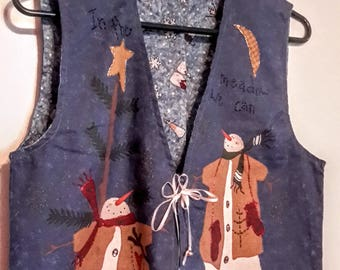 Christmas vest with snowmen!