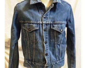 Vintage Stonewashed Denim Jean Jacket