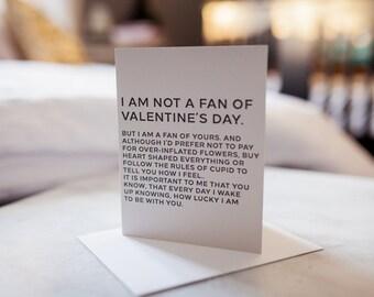 Non-Valentine's Valentine Card, Valentine's Day Card,