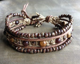 Bohemian bracelet macrame bracelet hippie bracelet boho chic bracelet womens jewelry rustic bracelet natural bracelet boho chic jewelry