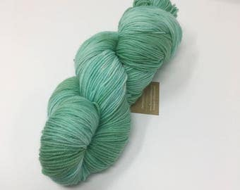Sea foam Semi solid Indie Dyed Yarn on Merino cashmere Nylon MCN green blue