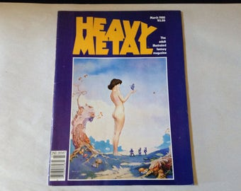 Heavy Metal Magazine - March 1980 - Vintage Heavy Metal Magazine - Original Series