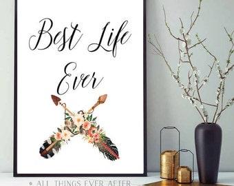 BEST LIFE EVER   jw   Print   Decor   Jehovah   Art   Wall Art   Jw Org   Pioneer Gift   Present   Printable   0074