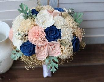Sola Bouquet, wedding bouquet, bridal bouquet, bridesmaid bouquet, sola flowers, blue pink bouquet