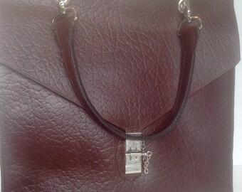 Maja, Large, Handmade Horween Brown Roughneck  Chromexcel Handbag / Shoulderbag