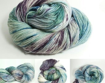 Superwash sock yarn Merino and Nylon Comfort Base -Amazon Frog Colorway