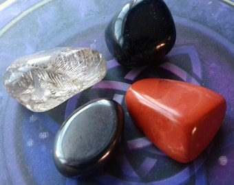 Staying Grounded Crystal Kit - Being Present - Strengthen Grounding - Stay Focused - Crystal Healing, Crystal Therapy, Crystal Energy Set