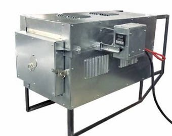 1100 C (2012 F) Programmable electrical kiln, 20 q.litres chamber