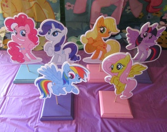 My Little Pony Centerpieces, My Little Pony Theme, Centros de Mesa de Poni,