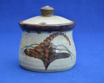 Vintage Lowerdown Pottery Jam Pot -  David Leach Studio Pottery - Art Pottery - British Ceramics - Vintage - Devon -