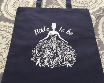 Bride to Be Custom Tote Bag