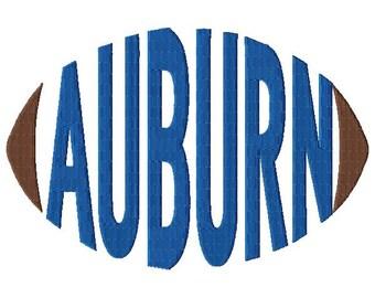 Auburn Football - Embroidery Design - Word Art - Word Design - 5x7 Hoop - 6x10 Hoop - Instant Download - Football - Spirit Towels - Sports
