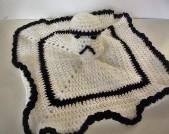 Handmade  crochet  baby comforter  soft toy   star wars  / storm trooper