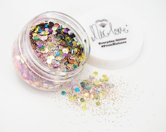 Large Chunky Cosmetic Face Glitter Pot