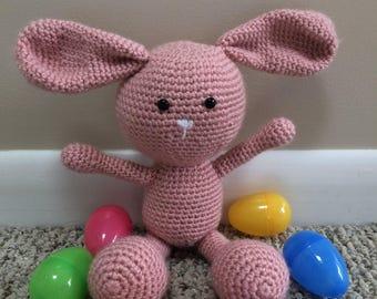 """16"""" Crocheted Stuffed Bunny Amigurumi"""