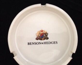 Vintage Benson & Hedges White Ashtray