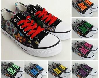 Shoe laces, multicolor shoelaces, choose from 16 colors, converse laces, chucks shoe laces, red, blue, black, purple, pink, yellow, green