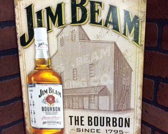 Jim Beam Whiskey Tin Sign