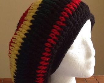 Tam Rasta hat Slouchy  Dread cover Cultural head wear