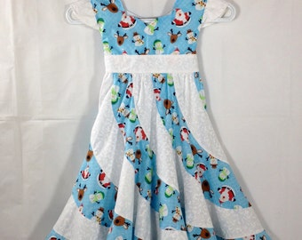 Christmas twirl dress, Sz 7, Ready to ship