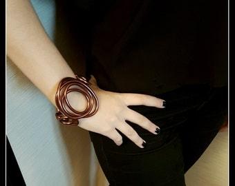 Copper-colored aluminum BRACELET-oval shape-aluminium-aluminium-copper jewelry-jewelry bracelet Bangle