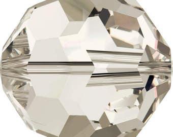 Swarovski Crystal Round Beads 5000 -  3mm 4mm 6mm 8mm - Crystal Silver Shade AB