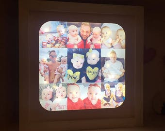 Light Up Box Frame, Light Up Photo Frame, Photo Collage, LED Frame, Square