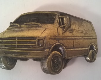 Vintage Solid Brass Van Belt Buckle