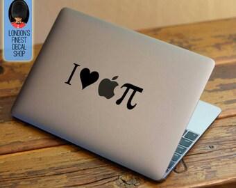 I Love Apple Pie - Macbook Vinyl Decal Sticker / Laptop Decal / iPad Sticker