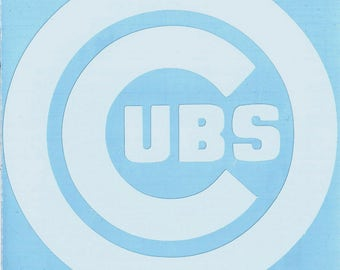 Chicago Cubs Logo Vinyl Decal Many Sizes Available Buy 2 get 1 free of equal or lesser size!