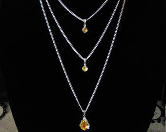 Swarovski Crystal Waterfall Necklace