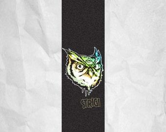 Strigi Owl  Skateboard Grip Tape Griptape Skateboarding