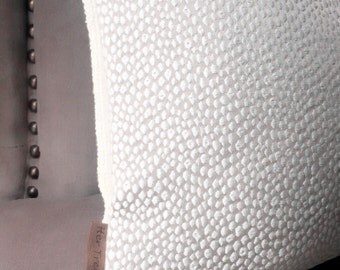 Neutral Textured Throw Pillow-Creme Beige Accent Pillow-Custom Pillow Cover-Beige Off White Designer Pillow-Tan Geometric Pill