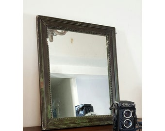 Antique mirror in the first half of the 900, French, beautiful natural patina   old French Mirror, Wooden Frame, Decorated