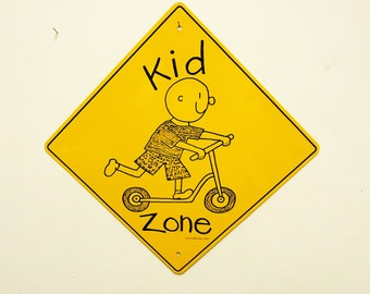 kids at play tin sign vintage,kids zone novelty sign,kids room wall hanging decor 12 x 12