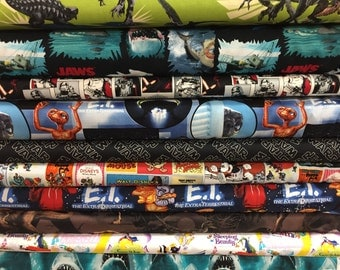 Old School Movie Night - Fat Quarter Bundle - 10 prints