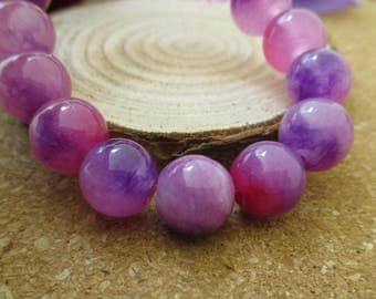 """15.5"""" 10mm Natural Stone Beads,Gemstones,Round Spacer Loose Beads(Pink-Purple Color)-G1106"""
