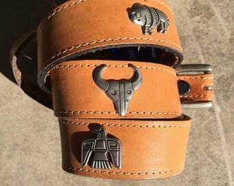 Vintage Western Leather Belt