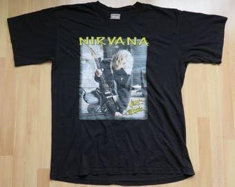 NIRVANA 90s shirt rare size XL vintage grunge rock