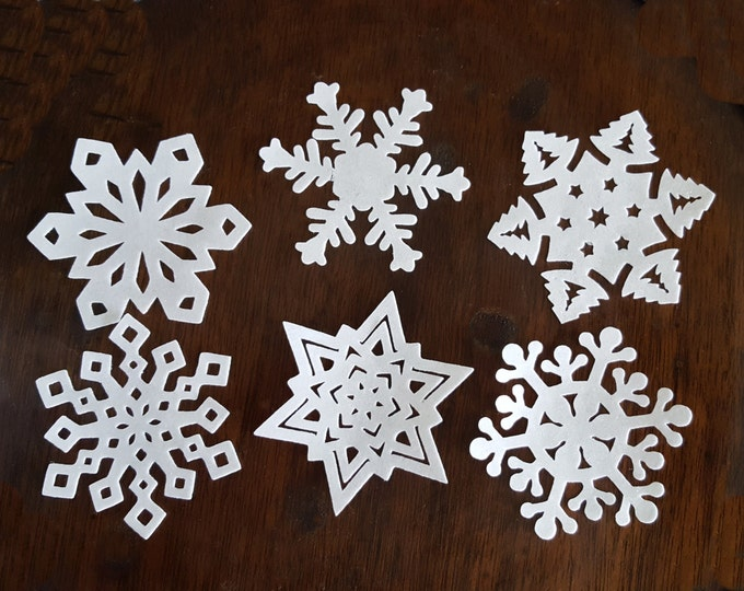 Extra Thick Edible Snowflake Cake, Cupcake, Cookie and Oreo Toppers - Precut Wafer Paper